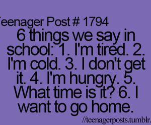 school, teenager post, and true image