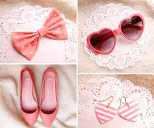pink and glasses shoes pik cute image