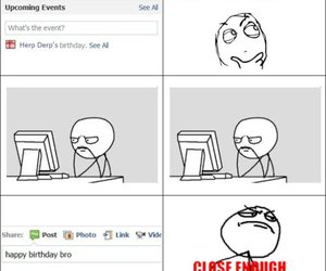 birthday, derp, and facebook image