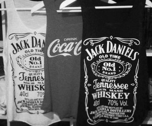 jack daniels, coca cola, and shirt image