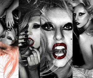 black and white, mother monster, and born this way image