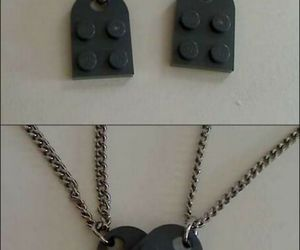 lego, heart, and necklace image