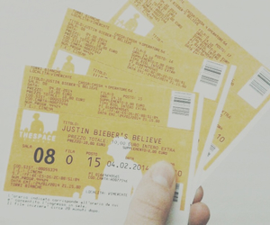 cinema, tickets, and justin bieber image