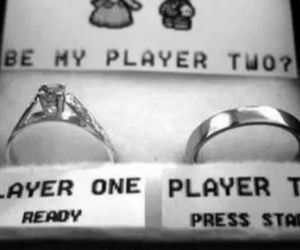 gamer, proposal, and romantic image