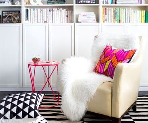 room, books, and design image
