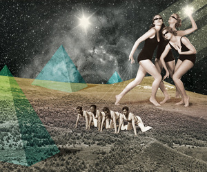 Julien Pacaud, pyramids, and space image