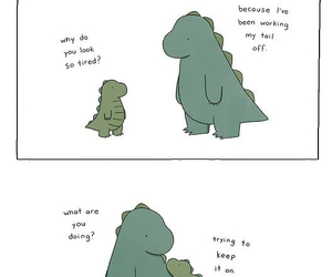 cute, dinosaur, and funny image