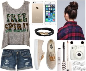 outfit, Polyvore, and short image