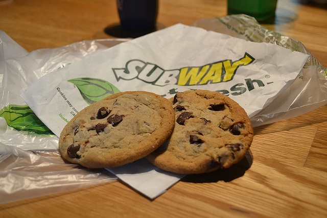 Cookies, subway, and food image