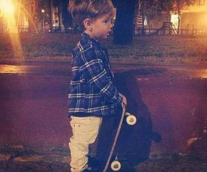 baby, skate, and boy image