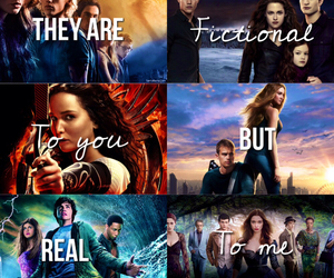 the hunger games, the mortal instruments, and percy jackson image