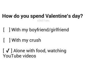 food, alone, and valentines day image
