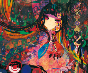 anime girl, colour, and paint image