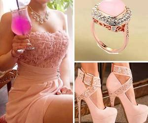 diamond, glam, and pink image