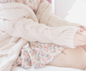 asian, flora, and sweater image