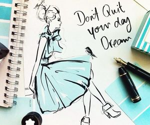 dress, girl, and quote image