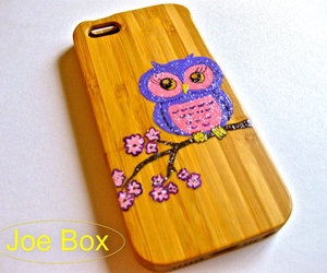 owl, cute iphone case, and glitter case image