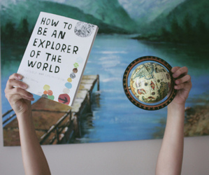 world, explorer, and book image