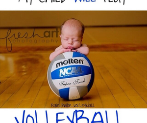 baby and volleyball image