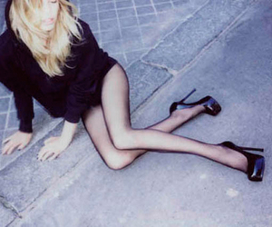 girl, blonde, and legs image