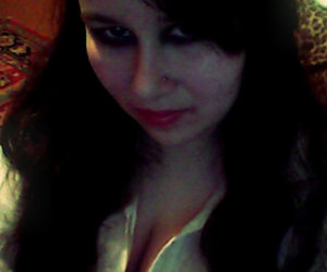 black hairs, me, and red lips image