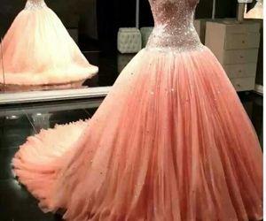 dress, pink, and wedding dress image